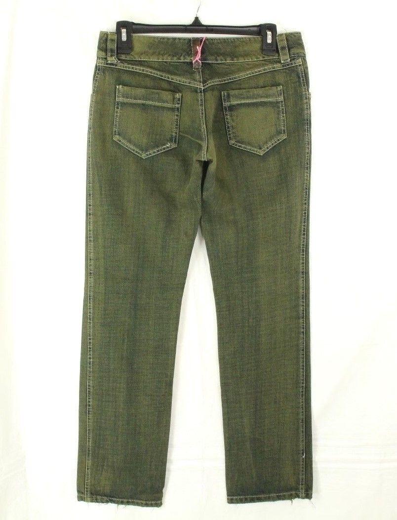 King's Jeans Cortina Damen Grün Distressed Einzelhandel Hergestellt in Italien Italien Italien e8f295