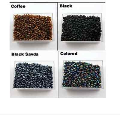 Wholesale 2000Pcs Czech Glass Seed Spacer Beads Black Clear Red Coffee 2mm NEW