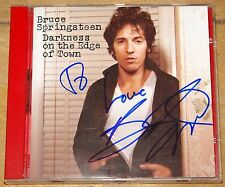 BRUCE SPRINGSTEEN DARKNESS ON THE EDGE OF TOWN SIGNED CD UACC REGISTERED DEALER