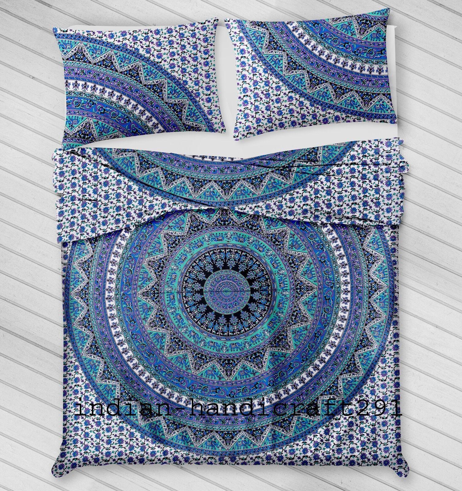 Bedding Cover Set Boho Duvet Queen Soft Bohemian Mandala Quilt Indian Comforter