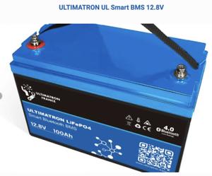 Batterie LiFePO4 Ultimatron 12V 100Ah BMS Bluetooth Apple Android garantie 3 ans