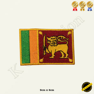 Sri Lanka National Flag Embroidered Iron On/Sew On Patch Badge Jean Shirts etc