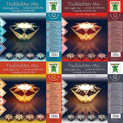 Weihnachten Tischlichter Mix Bastelpapier mit Anleitung- 12 Modelle - D=16cm