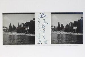 Bellagio-San-Giovanni-Italia-Foto-Stereo-T2L9n45-Placca-Da-Lente-Vintage