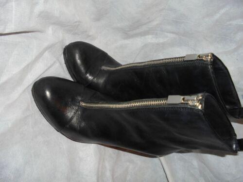con e da in Vgc 6 nera donna Eu 39 pelle tacco zip taglia Scarpa donna da Uk Zara wtqSXS