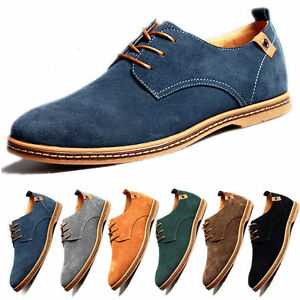 27d71ee4bb589a New Mens Suede Dress Shoes Lace Up Casual Oxfords Leather Shoes ...