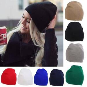 Men-039-s-Women-Beanie-Knit-Ski-Cap-Hip-Hop-Solid-Color-Winter-Warm-Unisex-Hat-New