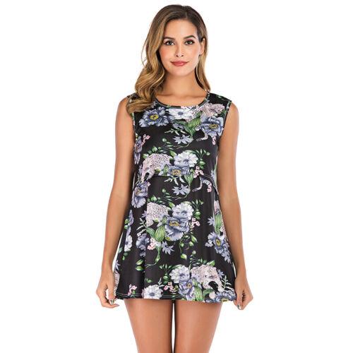 Maternity Pregnant Sleeveless Mini Dress Summer Beach Party Floral Sundress BOHO