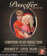 "PUSCIFER/CARINA ROUND""CONDITIONS OF MY PAROLE TOUR""2011 SALT LAKE CONCERT POSTER"