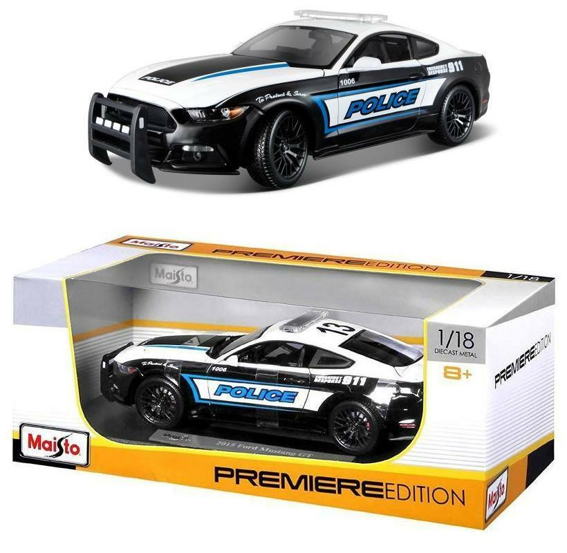 2015 Ford Mustang GT Police 1 18 police premiere edition Miniature Modèle