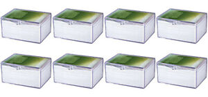 NEW 8-PACK Ultra Pro 100-Count Hinged Card Storage Box Case Sports Pokemon 43005
