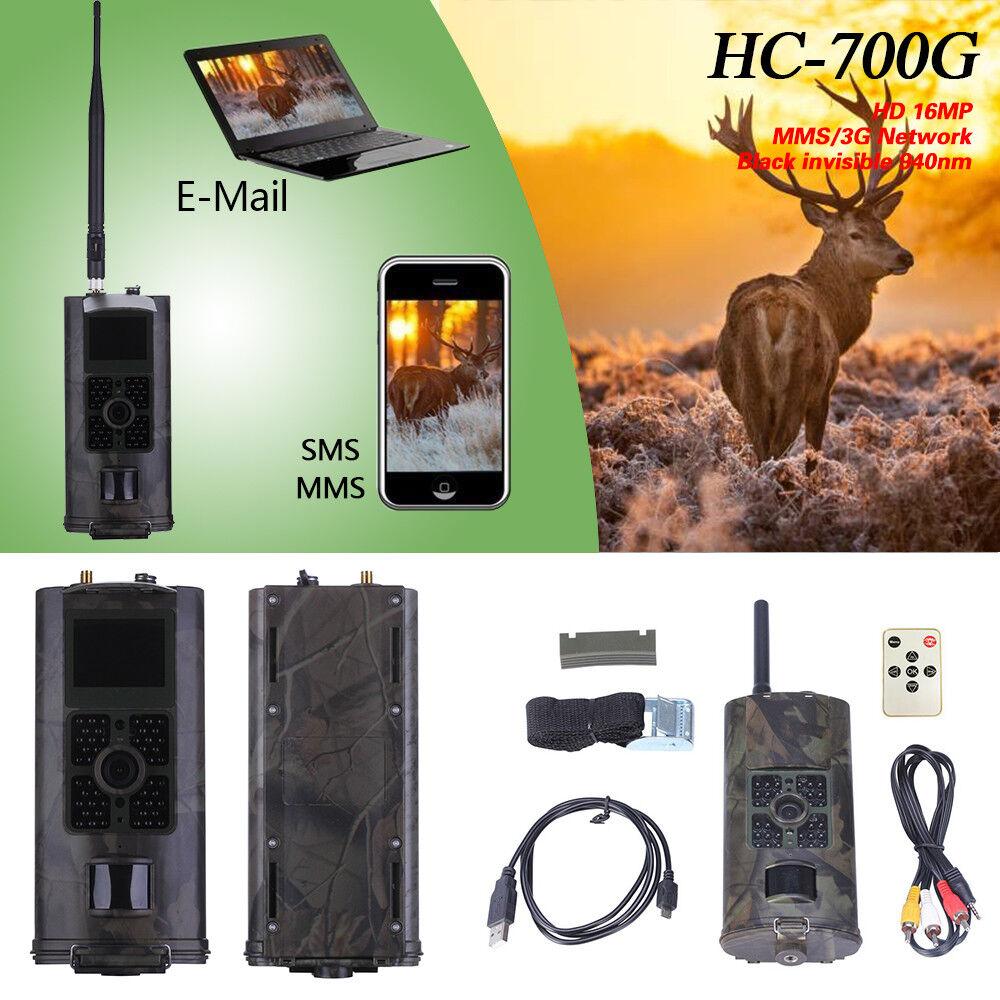 HC-700G 16MP 3G Hunting Trail Camera Night Vision IR 1080P 120° GSM MMS SMS