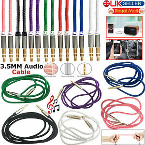 1M-3-5mm-Jack-to-Jack-Audio-Aux-Cable-Auxiliary-STEREO-Lead-For-Car-Mobile-Phone