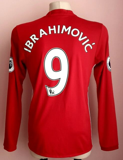 Manchester United 2016 - 2017 Home Adidas jersey #9 IBRAHIMOVIC long sleeve | eBay