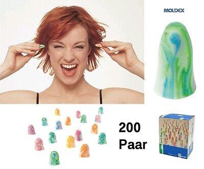 Polybeutel 200 Paar MOLDEX Gehörschutzstöpsel Spark Plugs anatomisch vorgeformt