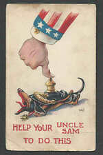 Ca 1916 PPC* VINTAGE WWI PATRIOTIC HELP UNCLE SAM TO DO THIS SEE INFO