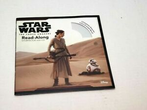 Star Wars Read Along Story Book CD Disc The Force Awakens Rey Poe BB8 Droid Jedi