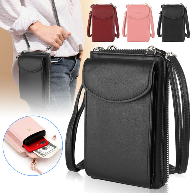 Women Small Handbag PU Leather Shoulder Tote Satchel Messenger Mini Cross Body