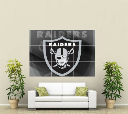 Oakland Raiders Giant XL Section Wall Art Poster NFL127