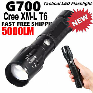 G700 8000LM ShadowHawk X800 LED Zoom Military Tactical Flashlight Torch Light OY