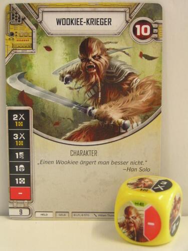 #041 Wookiee Warrior dice yellow Star Wars Destiny Empire at war