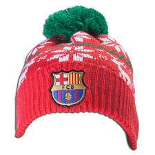257ebd4768e FC Barcelona Beanie Christmas Adults Mens Soccer Football NEW POM Cap Hat