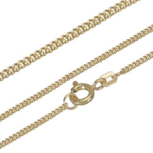 Collier Halskette 925 Silber Gold Vergoldet Panzerkette Kette 45 cm 1,95g Unisex