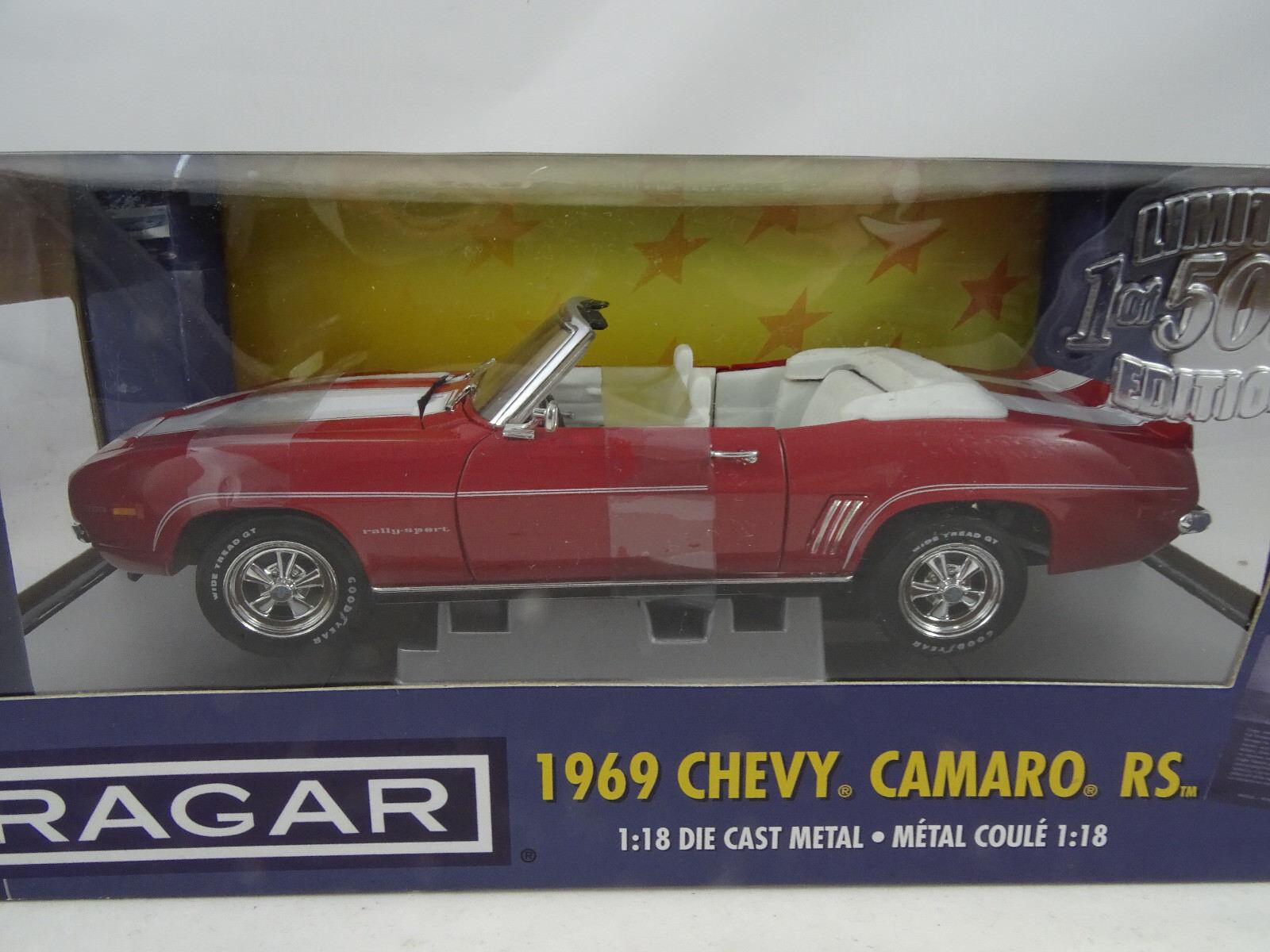 1 18 Ertl Cragar 1969 Chevy Camaro RS Cabrio Lmtd.Ed. 1of 1500  RARITÄT§