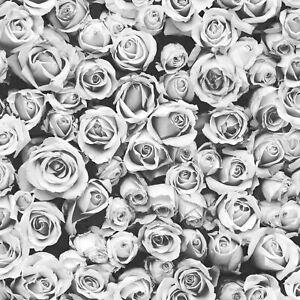 Muriva-Rosalee-Floral-Papier-Peint-Mica-Luisant-Photographique-158501-Gris