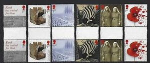 GREAT BRITAIN 2017 WORLD WAR 1 1917 SET OF 6 GUTTER PAIRS UNMOUNTED MINT