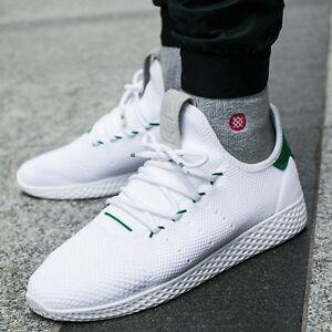 6c972ed5a070f Adidas Pharrell Tennis HU PK Primeknit White Green BA7828 Size 13 ...