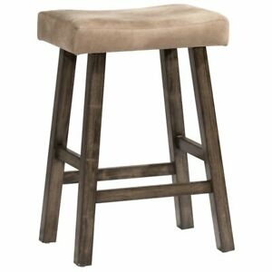 Amazing Details About Hillsdale Saddle 30 Faux Leather Bar Stool In Rustic Gray Ibusinesslaw Wood Chair Design Ideas Ibusinesslaworg