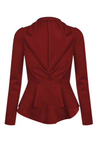 Ladies Womens Stylish Casual Party Work Wear Blazer Jacket Suit Coat Size 8-24
