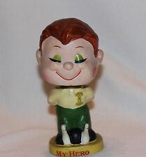 "Vintage 1960's ""My Hero"" Kissing Boy Bowler Bowling Bobble Nodder Head Lego Japa"