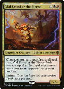 1-PreCon-FOIL-Vial-Smasher-the-Fierce-Gold-C16-Commander-2016-Mtg-Magic-Mythic