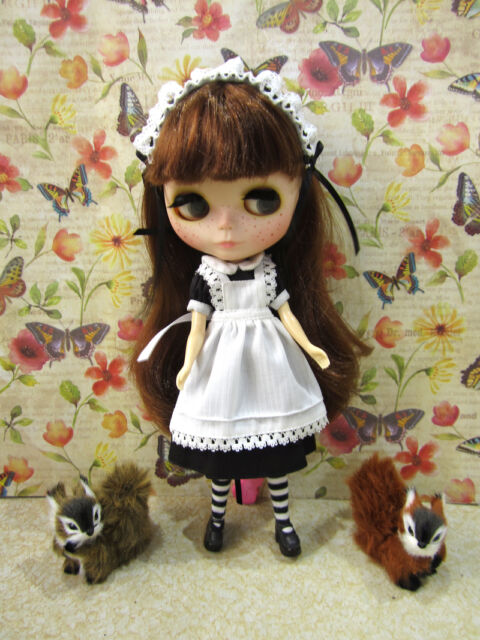 Blythe Gothic Lolita french maid dress black Alice outfit