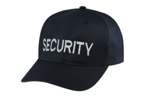 Security-hat-white-lettering-on-black-cap-one-size-fits-all-6744