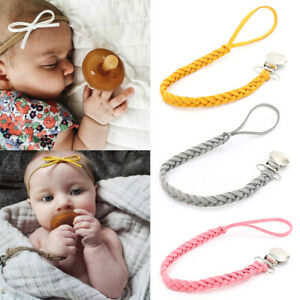 New Baby Toddler Dummy Pacifier Spring Soother Nipple Clip Chain Holder Strap UK
