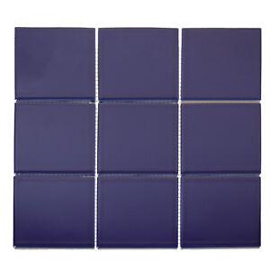 Das Bild Wird Geladen Keramik Mosaik Blau Lila Poliert Glaenzend Wand Und