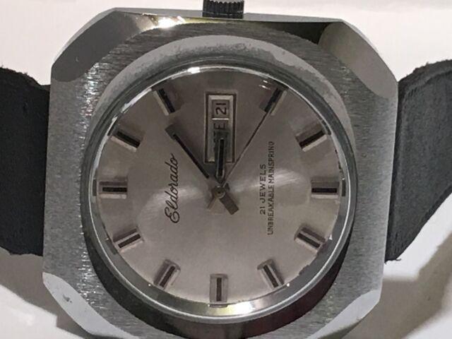 Vintage Eldorado 21Jewels Men's Watch Mechanical Self Winding   (A-31)