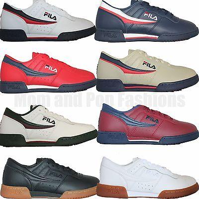 Fila Original Pour Homme Fitness Rétro Classique Casual Chaussures De Sport Blanc Bleu Marine Rouge | eBay