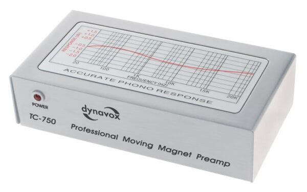 Doelstelling Dynavox Phono-vorverstärker Tc-750 (für Mm Tonabnehmer) Silber / Silver Mooie Glans