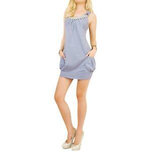 abito-tunica-a-maglia-donna-perline-viola-azzurro-grigio-fucsia-blu-taglia-m-l