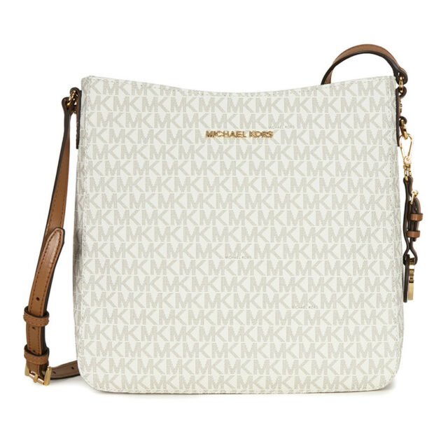 Michael Kors Jet Set Travel Large Logo Messenger Vanilla