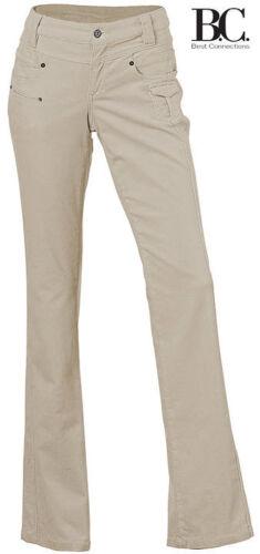 NUOVO Slim Fit Bootcut velluto morbido Cord Pantaloni 36//18 38//19 B.C Antracite 098781