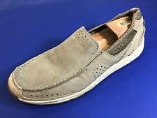 CLARKS Casual Slip-On Loafer Moccasin Shoes TAN Leather #82169 Men's Sz 9.5