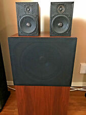 Rare Sequerra Metronome 7 with 8W subwoofer Vintage Speaker set