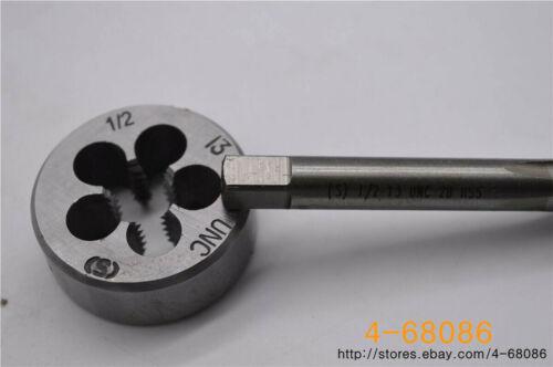UNC British US made right hand taper 1pc 1//2-13 die 1pc 1//2-13 tap