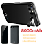 thumbnail 1 - 8000mAh Battery Charger Case Power Bank Cover For iPhone 6 6s 7 8 Plus SE Black