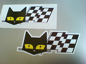 SEV-MARCHAL-Cat-amp-Flag-Retro-Vintage-Car-Stickers-Decals-2-off-90mm